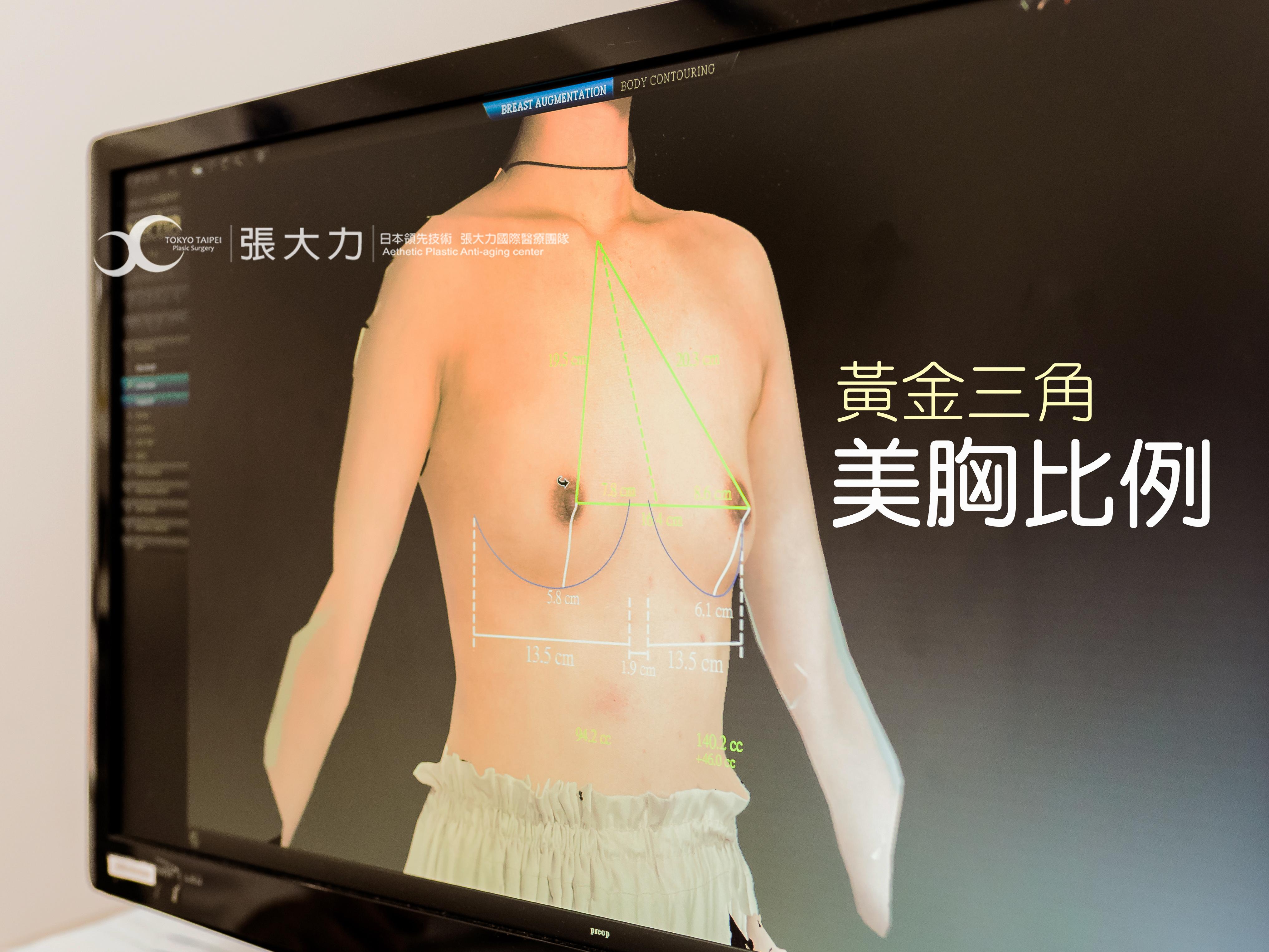 黃金三角美胸比例隆乳權威-東京風采整形